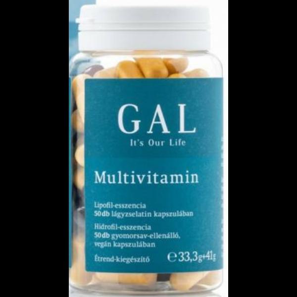 Gal multivitamin 50+50 étrend-kiegészítő 50 napi adag 33,3g+41g 100 db